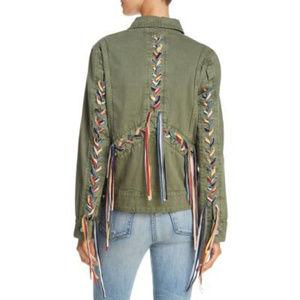 BLANK NYC | Rainbow Tassel Lace Up Jacket NWOT